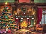 Cozy Christmas Room