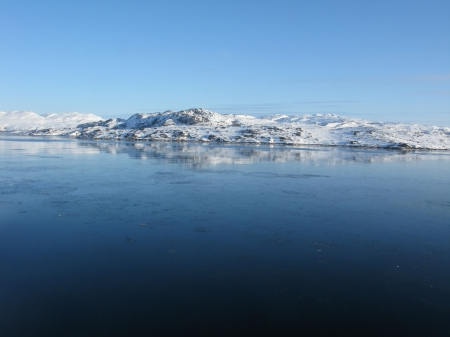Near Kirkenes, Norway. Arctic Ocean. - Mountains, Arctic Ocean, Ice, Kirkenes