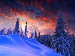 Sunset Through the Mountain