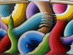coloured graffiti art