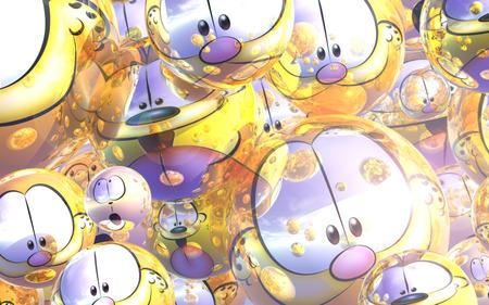 Garfield Christmas.A Garfield Christmas 3d And Cg Abstract Background