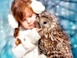 Little Girl and Owl