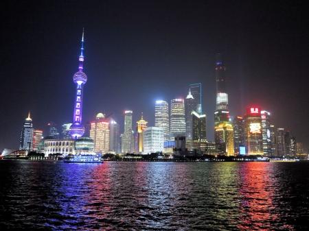 Shanghai, view from the Bund.