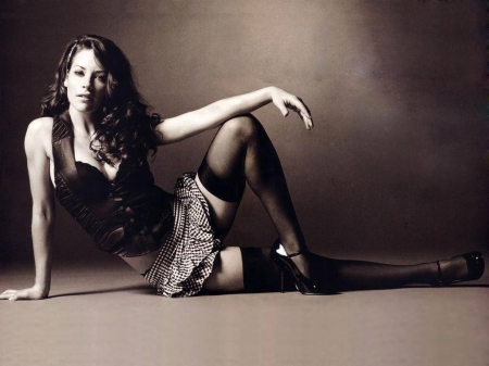 Evangeline Lily - model, legs, Evangeline Lily, beautiful, Evangeline, stockings, actress, wallpaper, Lily, 2015
