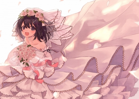 Haguro The Bride - kantai collection, haguro, anime, wedding dress, bride, wedding
