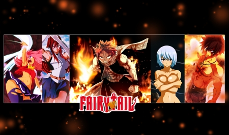 Fairy Tail - natsu, erza, fairy tail, dragonslayer, guild, anime, grey, wendy, yukino