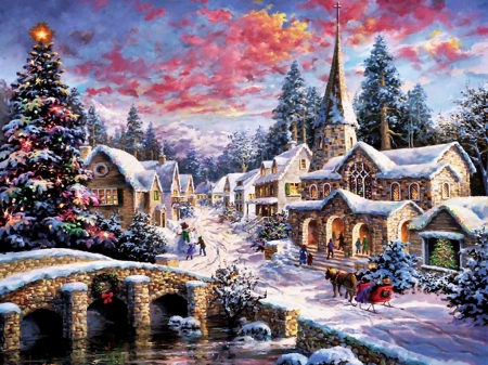 Christmas Village Other Abstract Background Wallpapers On Desktop Nexus Image 2051404