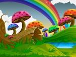 colored mushrooms