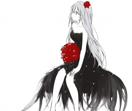 Anime Elegant Red Dress