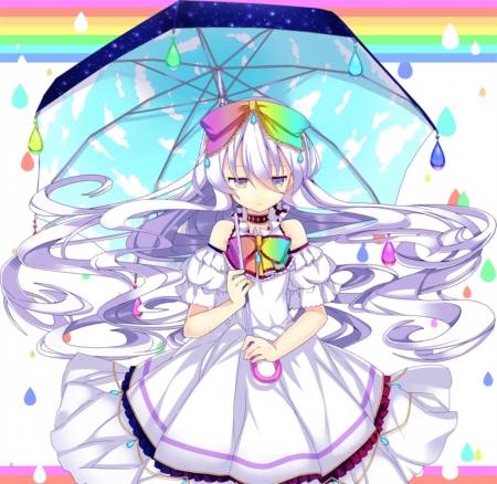 Rainbow Girl Other Anime Background Wallpapers On
