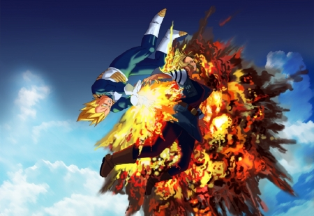 Vegeta Vs Android 18 Dragonball Anime Background Wallpapers On Desktop Nexus Image 2052743