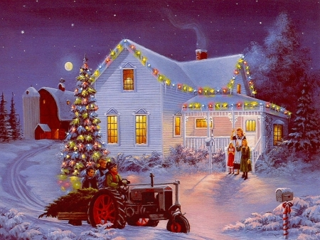 Old Fashioned Christmas Pictures.Old Fashioned Christmas Winter Nature Background