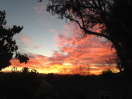 Beautiful Sunset out my bedroom window - summer, sunset, beautiful, CA