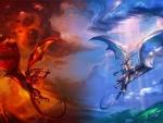 fire vs ice dragons