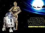 STAR WARS R2D2 & C3PO Christmas Force
