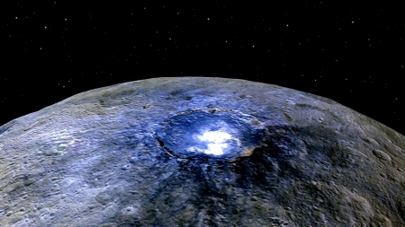 The Brightest Spot on Ceres - stars, fun, cool, planet, ceres, space