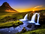 waterfall on the hill