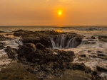 Thor 's Well Sunset