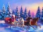 Three Horse Santa