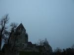 brume sur le chateau
