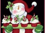 Snowman's Cupcakes