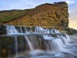 Waterfall at Monknash, South Wales