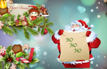 ~Santa and elves~ - pretty, cool, background, Chrstmas, funny, elves