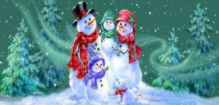 snowman family wallpaper - photo #17