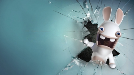 rabbids - rabbit, rabbids, screen, broken