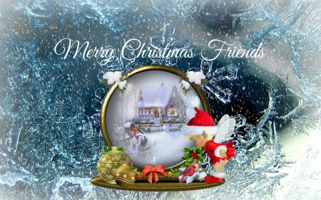 Merry Christmas My Dear Friends! - 3D and CG & Abstract Background ...