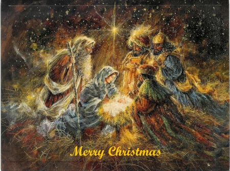 ♥♫ Merry Christmas ♥♫ - painting, Christmas, image, abstract