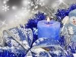 Snowman in Blue