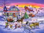 Santa Comes To Village