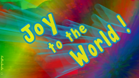 Joy to the World!!! (Rainbowed) - noe1, Christmas, red, green, yellow, wheelchair, joy, blue, sa1vation