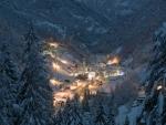 Night in Alps