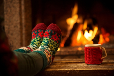 ♥ - socks, fire, mug, abstract