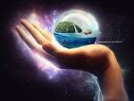 The hand sphere ball island