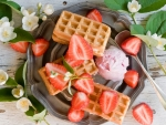 Waffles & Strawberry