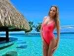 Katya Clover at the Beach