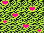 pink in yellow hearts