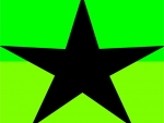 Bright Green Black Star