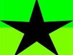 Bright Green Black Star