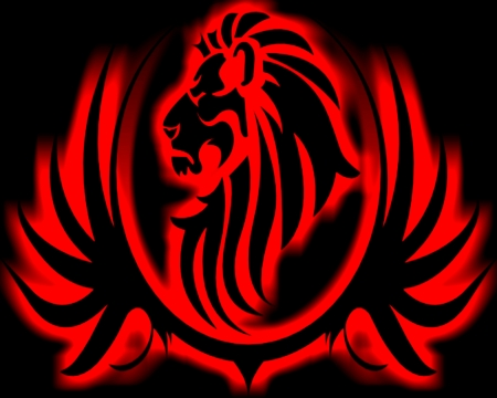 Black Large Lion Red Other Abstract Background Wallpapers On