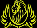 Black Large Lion Yellow