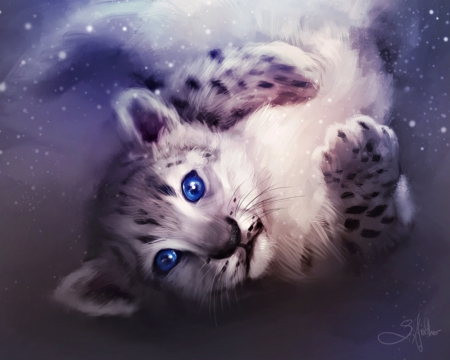 Snow Leopard Fantasy Abstract Background Wallpapers On Desktop Nexus Image 2062932