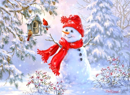 Woodland Snowman - Winter & Nature Background Wallpapers on Desktop Nexus (Image 2063630)