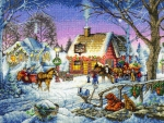 Village Life in Winter