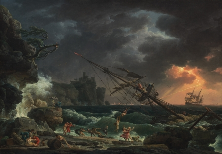The Shipwreck - art, Vernet, Shipwreck, painting