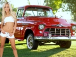 1956 Chevy 3100 Pickup and model