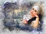 Fantasy snow beauty